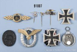 Konv. überwiegend 1957er-Auszeichnungen, EK 2 1939, EK 1 1939, VWA in Schwarz,...