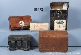 Konv. 4 Sanitätstaschen, vermutlich zwischen 1900 und 1960, teilweise mit dazugehörigem...