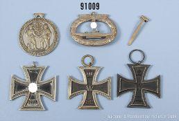 Konv. 2 EK 2 1914, Jubiläumsmedaille zum 100-jährigen Bestehen des IR 30, EK 2 1939 ohne...