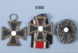 Konv. 2 EK 2 1939 und VWA in Schwarz, guter Zustand, teilweise mit...