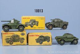 Konv. 3 Dinky Toys Modelle, dabei 670, 673 und 814, M 1:43, Metallausf., guter bis sehr ...