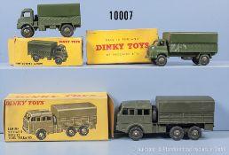 Konv. 3 Dinky Toys Modelle, dabei 80 D, 621 und 623, M 1:43, Metallausf., guter bis sehr ...