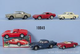 Konv. 6 Mercury Modellfahrzeuge, dabei Maserati 3500 GT, Flavia Coupé, Fiat 1500 usw., M ...