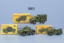 Konv. 3 Dinky Toys Modelle, dabei 641, 670 und 674, M 1:43, Metallausf., guter bis sehr ...