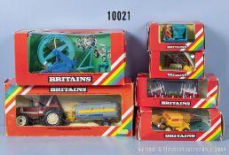 Konv. 6 Britains Modelle, dabei 9541, 9547, 9550, 9585 usw., guter bis sehr guter ...