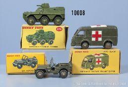 Konv. 3 Dinky Toys Modelle, dabei 80 B, 80 F und 676, M 1:43, Metallausf., guter bis ...