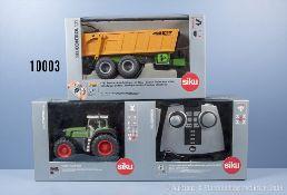 Siku Control 6754 Traktor Fendt 930 mit Fernsteuermodul und 6780 Tandem Achs Anhänger ...