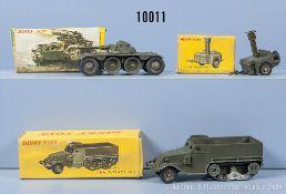 Konv. 3 Dinky Toys Modelle, dabei 80 A (in OVP von 813), 822 und 823, M 1:43, ...