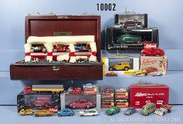 Konv. Verschiedenes dabei Schuco 3000, Matchbox Schauvitrine mit 6 Fahrzeugen, ca. 50 ...