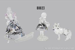 Konv. 2 Swarovski Figuren, dabei Disney Aschenputtel mit losem Schuh, H 11 cm und ...