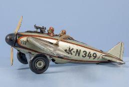 Kellermann Kampfflieger K-N 349, lith. Blechausf., mit feuerndem MG (MG fehlt), ...
