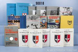 """Konv. 18 Bücher Luftwaffe 2. WK (NK), u.a. 2 x """"Die deutsche Fallschirmtruppe"""", """"Walter ..."""