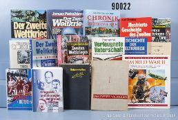 """umfangreiches Bücherkonv. (NK) (4 Bananenkisten) überwiegend über den 2. WK u.a. """"Der ..."""