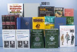 Konv. 19 Bücher NK, überwiegend Generaltität 2. WK und Ritterkreuzträger u.a. 3 Bände ...