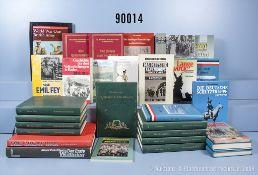 """Konv. 30 Bücher (NK) über Deutsche Kolonien und den 1. WK, u.a. 9 Bände """"Schlachten des ..."""