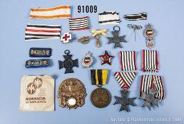 Konv. u.a. Preußen 3 Verdienstkreuze für Kriegshilfe, Landwehr-Dienstauszeichnung 2. ...