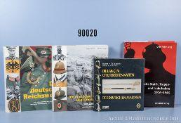 """Konv. 4 Fachbücher (NK) über Militaria, """"Die langen Offizier Seitenwaffen der deutschen ..."""