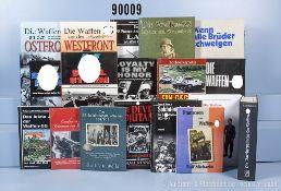 """Konv. 18 Bücher NK über die Waffen-SS, u. a. """"Wenn alle Brüder schweigen"""", ..."""