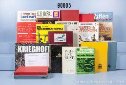 """Konv. 21 Bücher NK über Waffen und Waffentechnik, u. a. """"Weapons of WW 2"""", """"Das ..."""