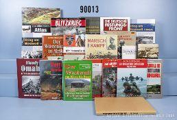 """Konv. 20 Bücher (NK) über den Krieg im Westen und in Afrika u.a. """"Krieg am Westwall"""" ..."""