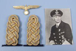 aus dem Nachlass des Generaladmiral Oskar Kummetz, 1 Paar Admiralsschulterstücke, ...
