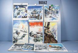 Konv. 10 original Zeichnungen von Titelbildern der Landser-Kleinbände Nr. 224, 321, 394, ...