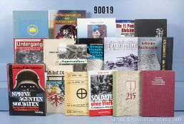 Konv. 18 Bücher (NK) über den 2. WK sowie Divisions- und Regimentsgeschichten u.a. 2 x ...