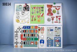 Konv. 7 original Zeichnungen zum Thema Auszeichnungen aus den Landser-Großbänden u. a. ...