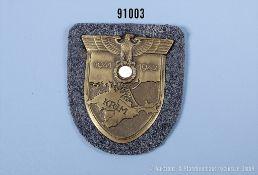 Krimschild Eisenausführung komplett mit Gegenplatte, 4 Splinten, Luftwaffenstoff und ...