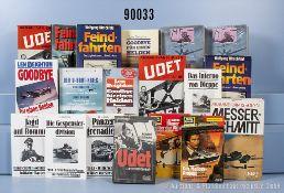 umfangreiches Konvolut von 92 überwiegend militärischen Büchern und 81 Taschenbüchern, ...