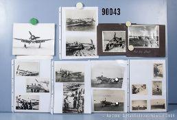 umfangreiches Fotokonvolut, 2 Hängeordner, über die Messerschmitt Me 109 und Focke Wulf ...