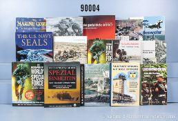 """Konv. 15 Bücher NK, überwiegend US-Army, Spezialkräfte und Bundeswehr, u. a. """"Worlds ..."""