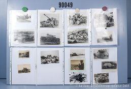 umfangreiches Fotokonvolut, 4 Hängeordner, über die deutschen Panzermodelle, Panzer I, ...