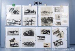 umfangreiches Fotokonvolut, 3 Hängeordner, über Junkers Ju 88, Focke Wulf Fw 200 Condor ...