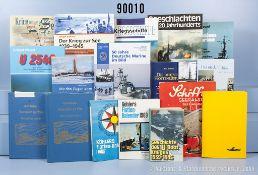 """umfangreiches Konvolut von 79 Büchern Marineliteratur NK, überwiegend 2. WK, u. a. """"U ..."""