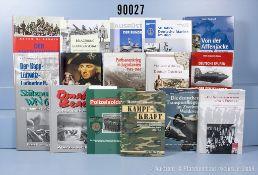 """Konv. 34 Bücher (NK) Militärgeschichte, 2. WK und Bundeswehr, u.a. """"Der amerikanische ..."""