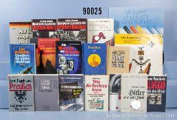 sehr umfangreiches Konv. (6 Bananenkisten), Nachkriegsliteratur über das 3. Reich, ...