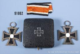 Konv. 2 EK 2 1939 und Etui zum EK 1 1939, guter ...