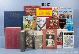 """Konv. 26 Bücher NK, überwiegend griechische und römische Geschichte, u. a. """"Die Kriege ..."""