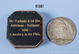 """Bayern Schützenmedaille """"16. Verbands & 25 jähr. Jubiläums-Schiessen - 1898 - Landau in ..."""
