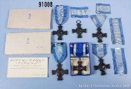 Konv. Bayern 5 König Ludwig Kreuze, davon 2 x mit der originalen Papierverpackung sowie ...