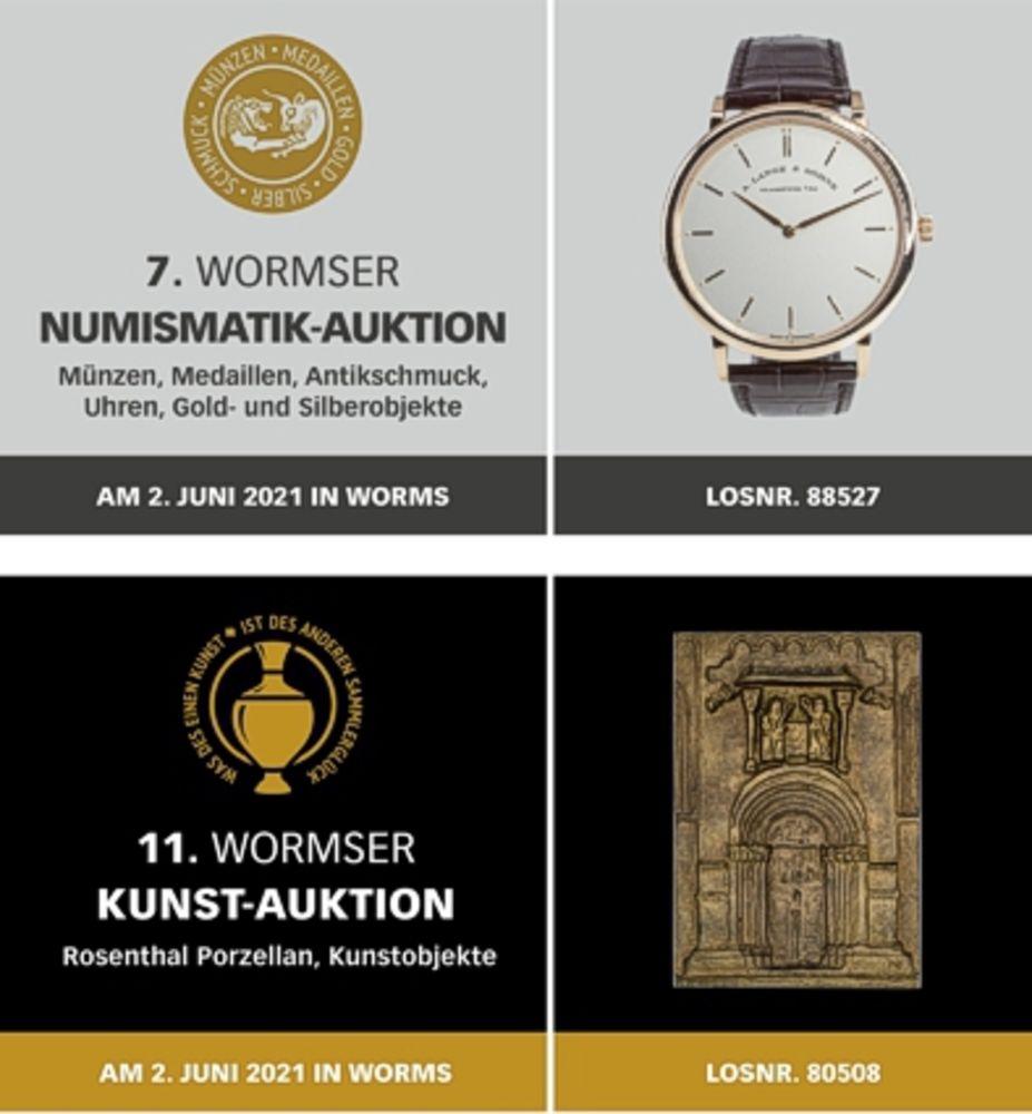 7. Wormser Numismatik / 11. Wormser Kunst Auktion
