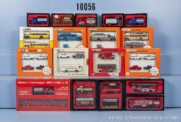 Konv. 29 H0 Modellfahrzeuge, Brekina und Preiser, dabei Omnibus, ...