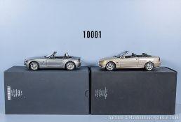 Konv. 2 Kyosho BMW Modellfahrzeuge dabei 3er Coupé Cabriolet und Z4, Metallausf., M ...