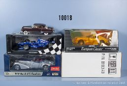 Konv. 4 Modellfahrzeuge dabei Minichamps Formel 1, Franklin Mint Cadillac Coupe de ...