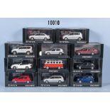 Konv. 11 Minichamps Modellfahrzeuge dabei Mercedes Benz SL55 AMG, VW Samba Bus usw., ...