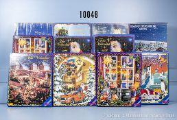 Konv. 11 Herpa H0 Adventskalender mit je 24 Fahrzeugen, 1994, 1995, 1996, 2 x 1997, 2 x ...