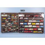 Konv. über 120 H0 Modellfahrzeuge, dabei Lkw, Transporter, Pkw, Oldtimer usw., teilweise ...
