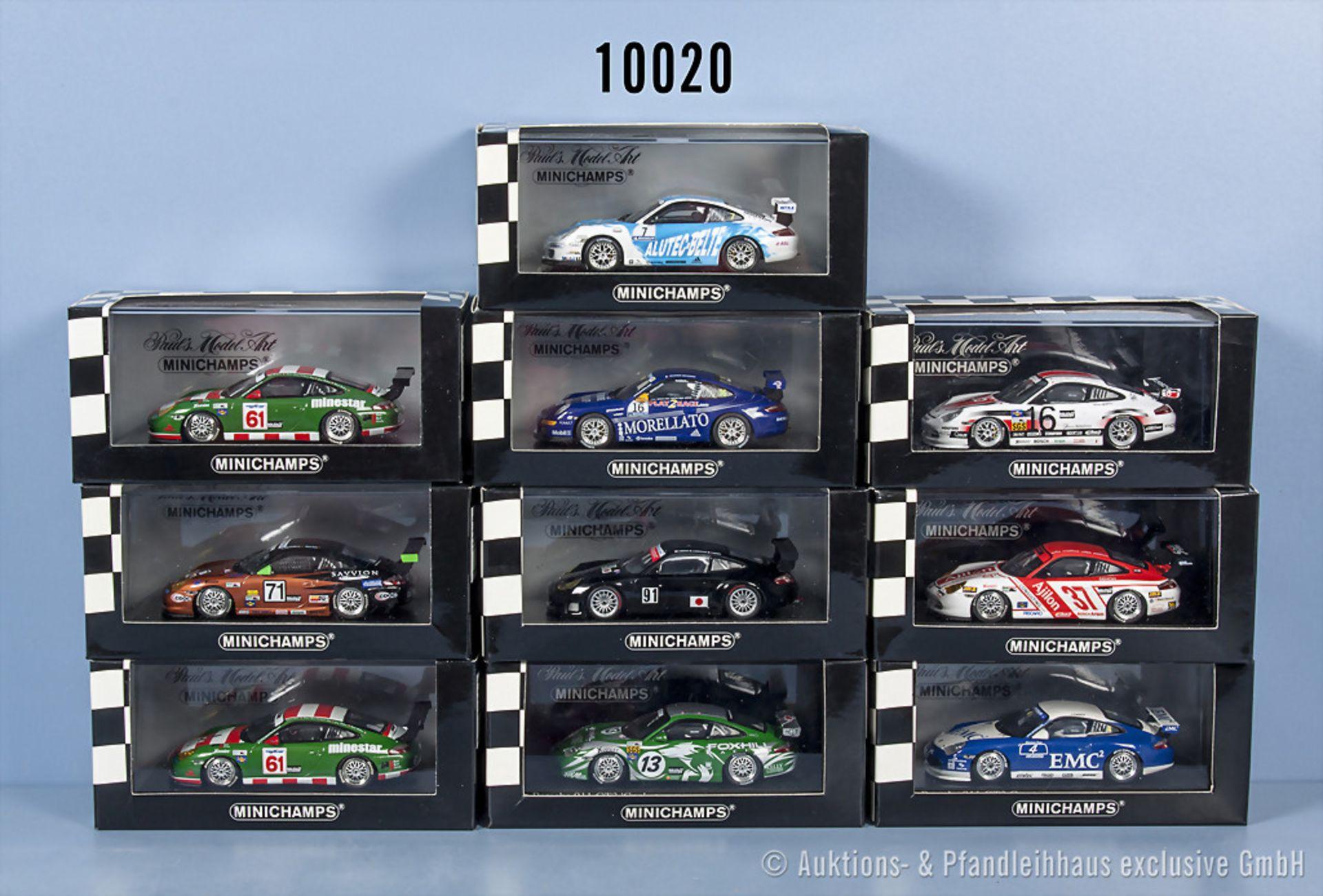 Konv. 11 Minichamps Porsche 911 GT3 Modellfahrzeuge überwiegend Varianten, Metallausf., ...