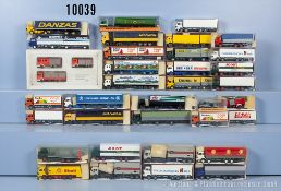 Konv. 35 Roskopf H0 Modellfahrzeuge, dabei Einsatzfahrzeuge, Lkw, Tanklastzüge usw., ...